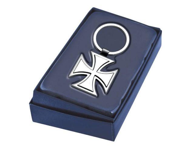 2416 portachiave croce militare in metallo satinato