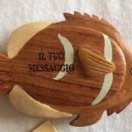 Portachiave legno pesce