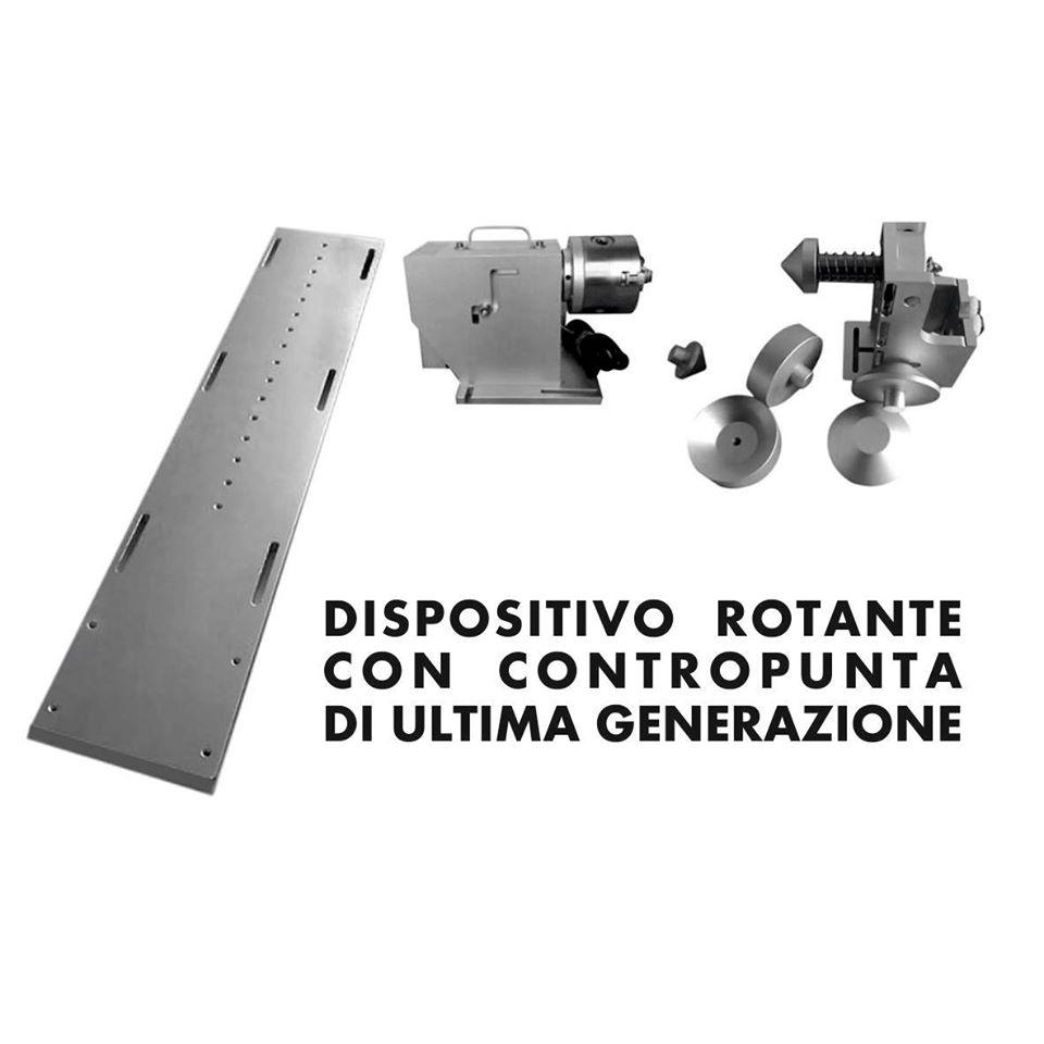 Dispositivo rotante con contropunta