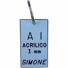 A1 portachiave in acrilico