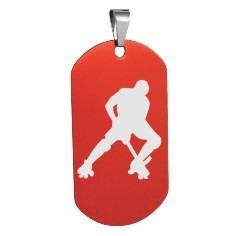 Piastrina hockey pista giocatore 2
