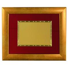 Cornice con targa art. 40 oro perl. frosso