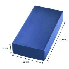 confezione portachiave in acciaio,misure,cartoncino blu