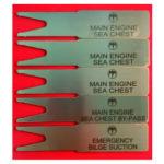 Soporte de placa de identificación de acero