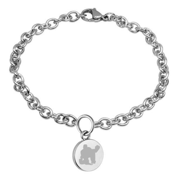 braccialetto con pendente diametro 15 mm inciso hockey pista logo 6 portiere
