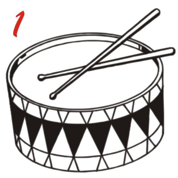 disegno giochi delle bandiere tamburo