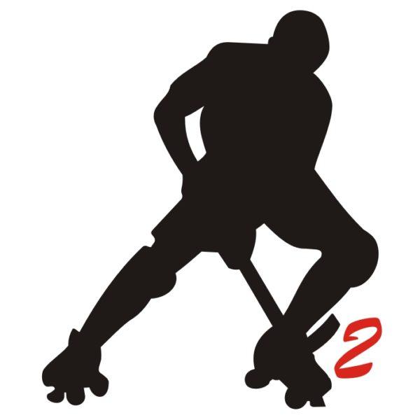 hockey pista logo 2 giocatore