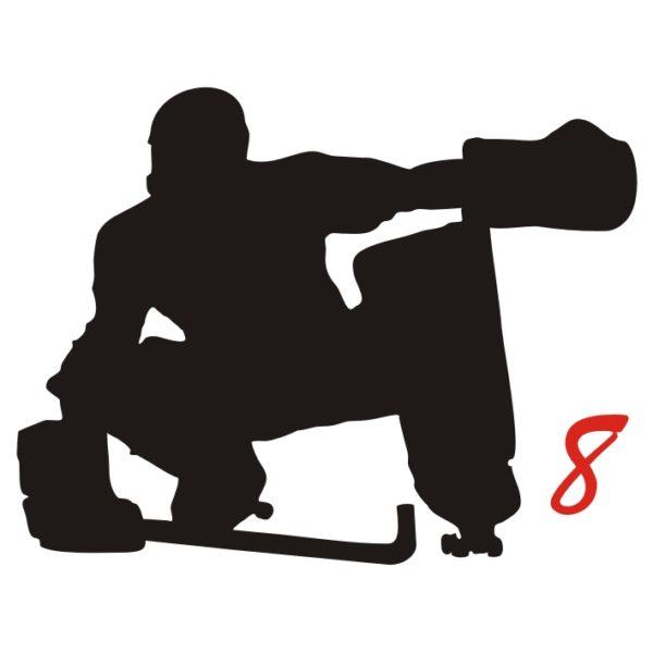 hockey pista logo 8 portiere