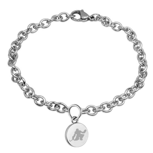 braccialetto pendente tondo portiere hockey pista