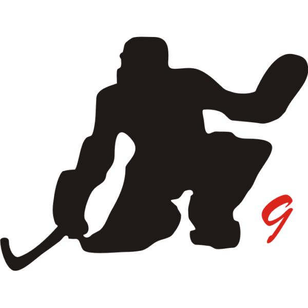 Hockey pista figura portiere