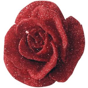 Candela sagoma fiore rossa