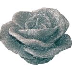Candela sagoma fiore argento