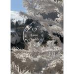 Decorazione natalizia in plexiglass trasparente