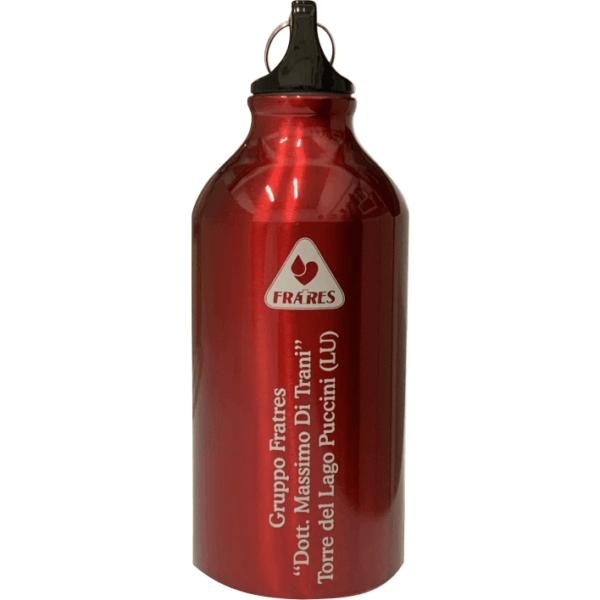 Borraccia 1/2 litro rossa con incisione personalizzata
