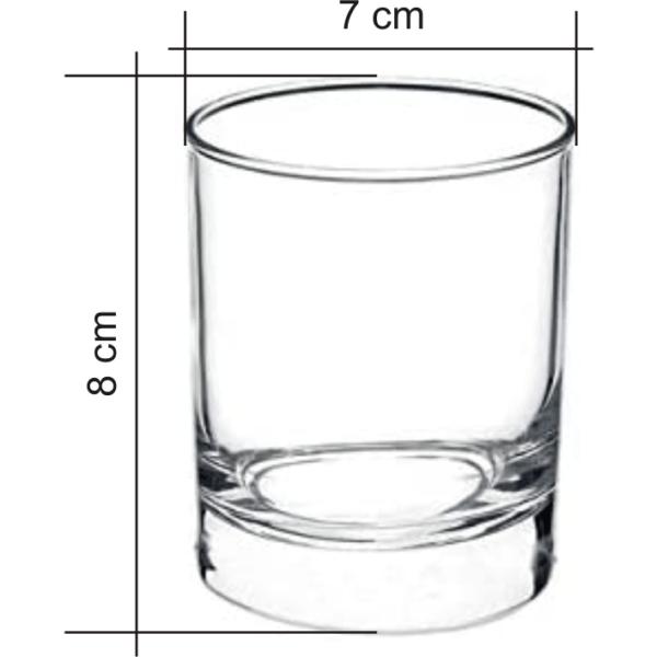 Bicchiere vetro da incidere dimensioni