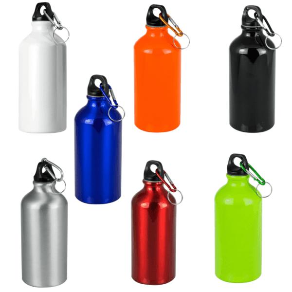 Serie borracce 500 cl da incidere in alluminio colori lucidi