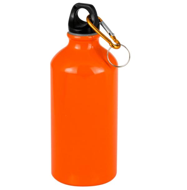 Borraccia 1/2 litro arancione da personalizzare con incisione
