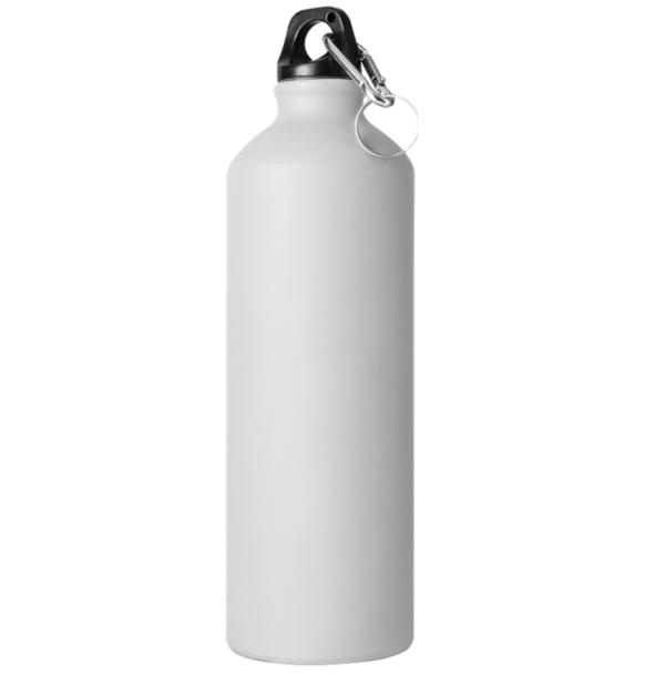 Borraccia in alluminio 750 cl bianco opaco da incidere