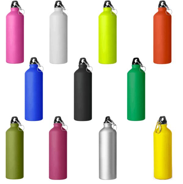 Serie borracce 750 cl da incidere in alluminio colori opachi