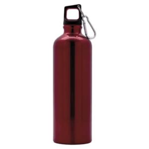 Botella de aluminio acabado brillo personalizable 750 cl