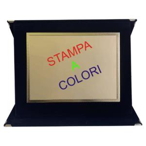 Cartella porta targa in legno con targa