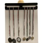 Porta medaglie in plexiglass nero