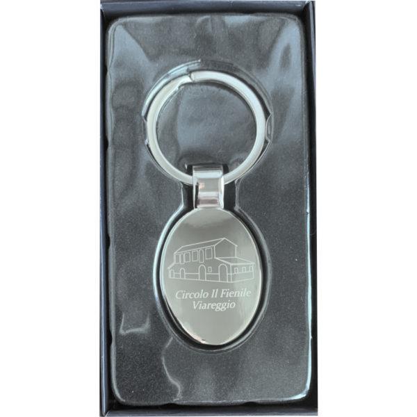 porta chiave in metallo inciso